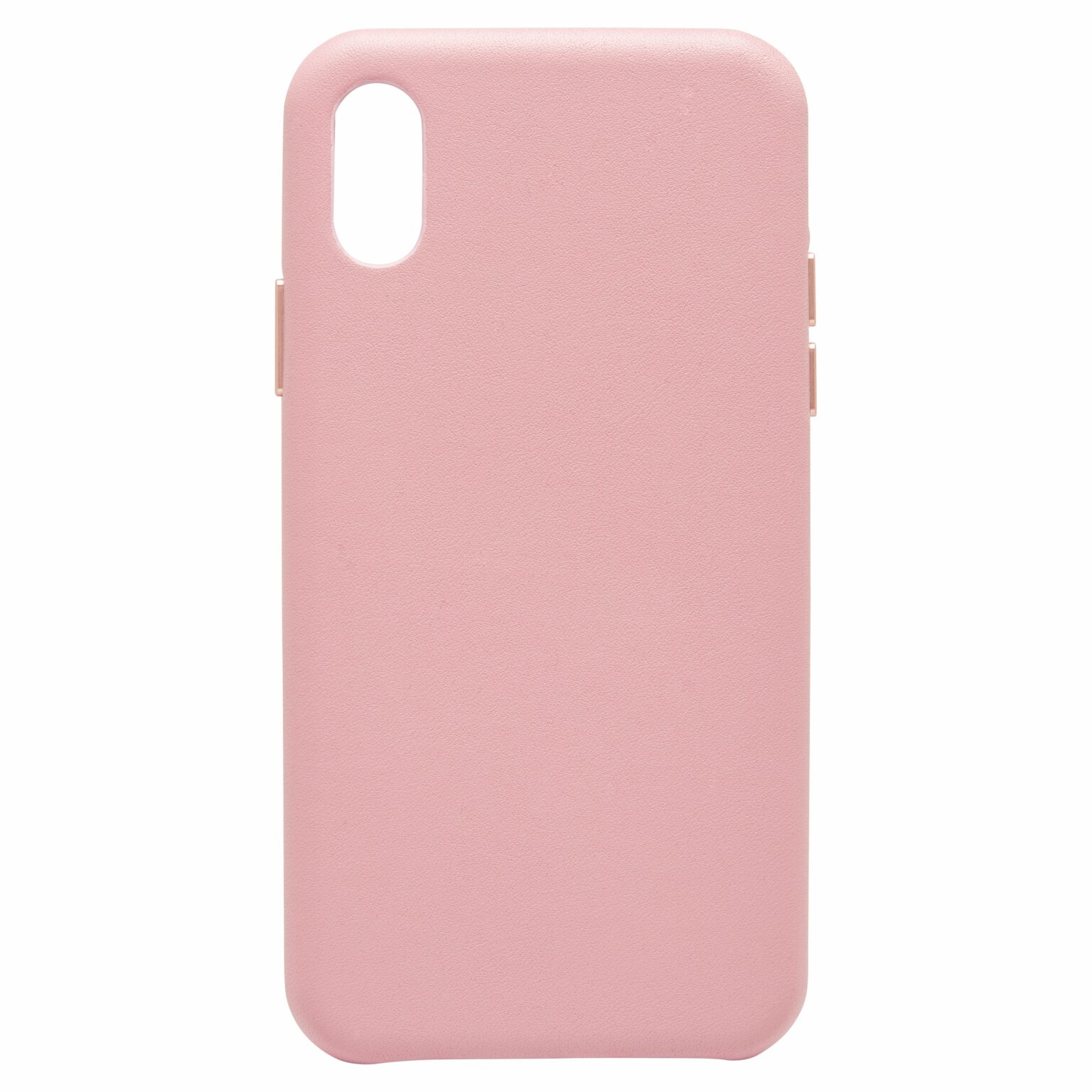 iPhone XR Nappa Leather Case - Nude - Fone Express